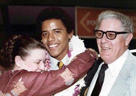 Obama w/ grandparents