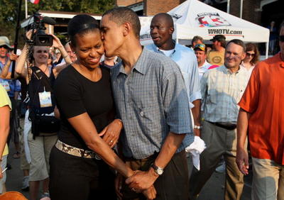 Campaign trail kiss