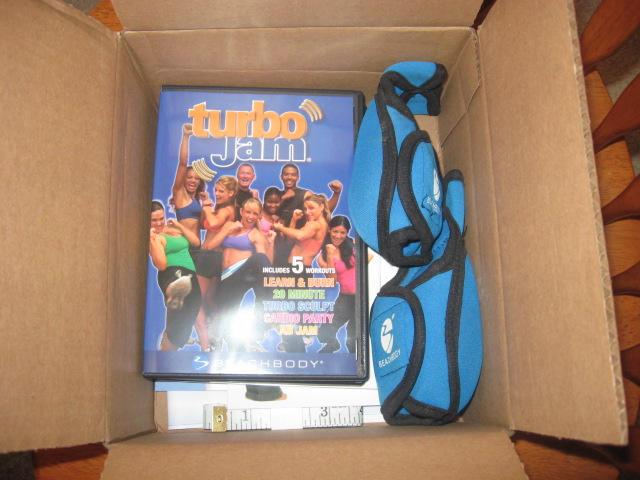 "My (latest) workout DVD set- ""Turbo Jam"""