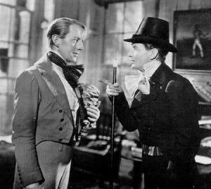 A young Alec Guiness (left) as Herbert Pocket, Pip's roommate