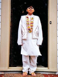 13 y.o. Anoop dressed in trad Indian clothes