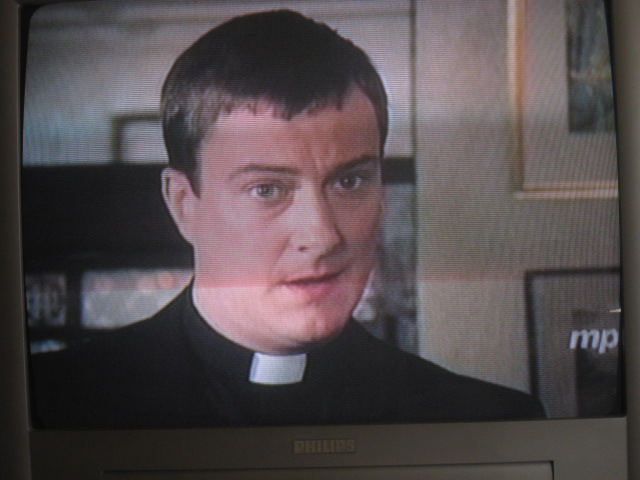 Peter talks to Enda about performing (hymns) in church.