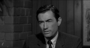 The concerned family man- Sam Bowden (Gregory Peck)