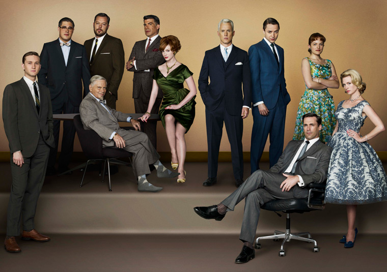 "The cast of ""Mad Men"" (AMC)"