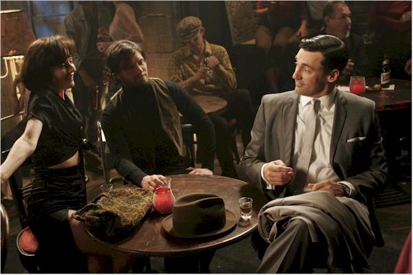 Don Draper (Jon Hamm) w/ bohemian Midge (Rosemarie Dewitt)