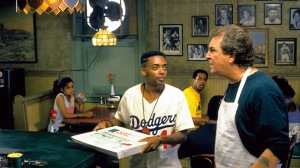 Mookie (Spike Lee) and Sal (Danny Aiello)