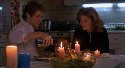 Max cooks dinner for Nora (Susan Sarandon)
