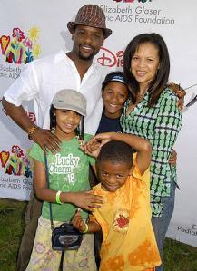 With the wife & kids- awww....