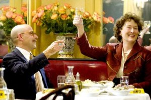 Paul (Stanley Tucci) and Julia Child (Meryl Streep)