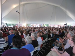 Very big crowd came to hear David McCullough