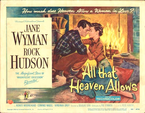 all that heaven allows Drama rock hudson and jane wyman in all that heaven allows (1955) jane  wyman in all that heaven allows (1955) rock hudson and jane wyman in all  that.