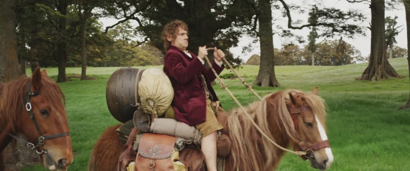 Bilbo riding a pony