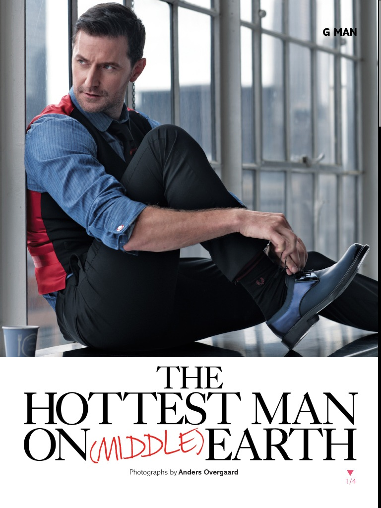 Richard Armitage in Glamour UK magazine