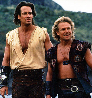 Kevin Sorbo as Hercules and Michael Hurst as Iolas
