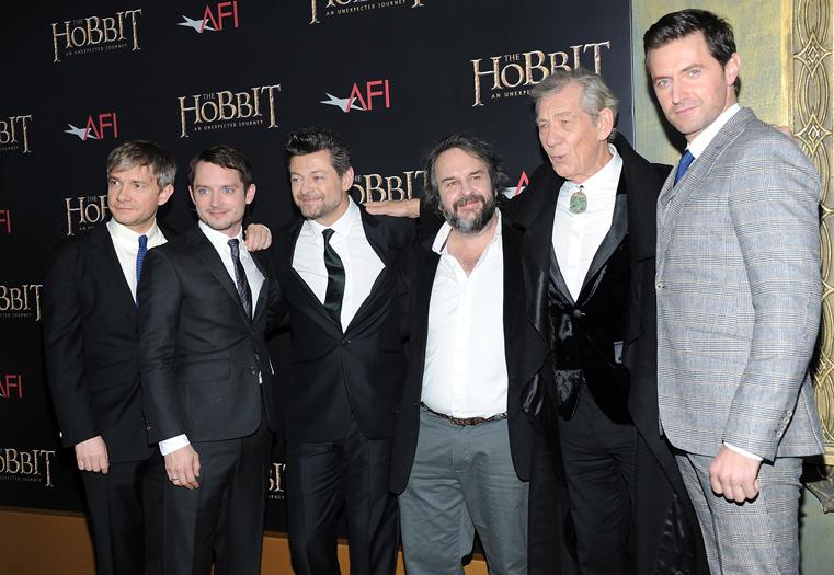 Martin Freeman, Elijah Wood, Andy Serkis, Peter Jackson, Ian McKellen, Richard Armitage