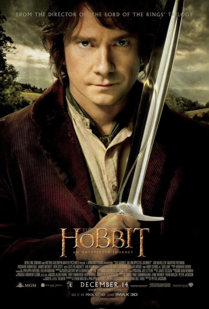 Poster featuring Martin Freeman as Bilbo