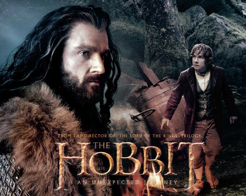 The Hobbit poster featuring Richard Armitage and Martin Freeman