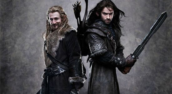 Dean O'Gorman as Fili and Aidan Turner as Kili