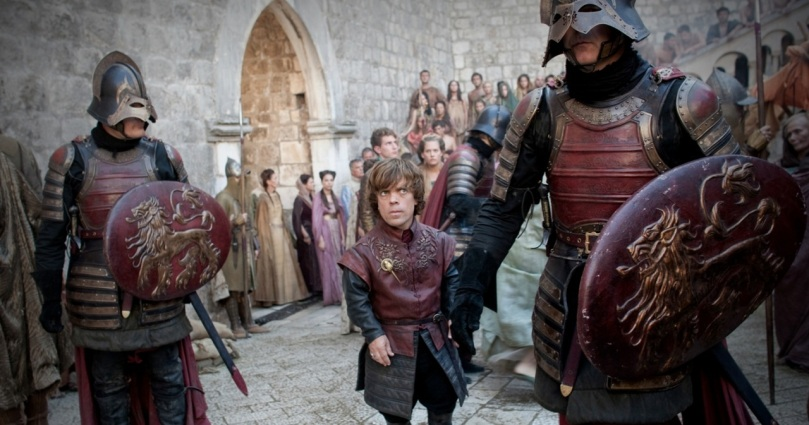 The royal entourage on the streets of King's Landing