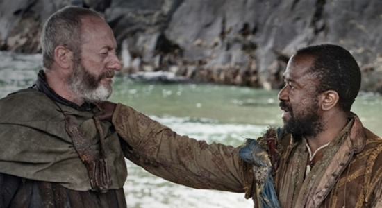 Liam Cunningham as Davos and Lucian Msamati as Salladhor Sam
