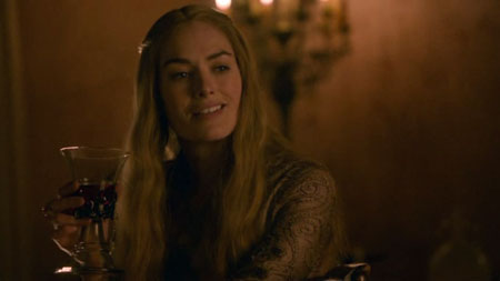 Cersei (Lena Headey) drinks and (bitterly) educates Sansa on the realities of being a queen