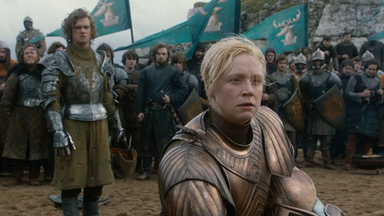 Ser Loras and Brienne of Tarth after their fight