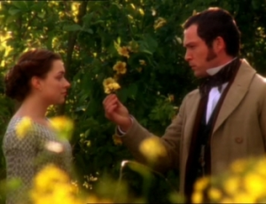 Daniela Denby-Ashe as Margaret Hale and John Light as Mr, Lennox