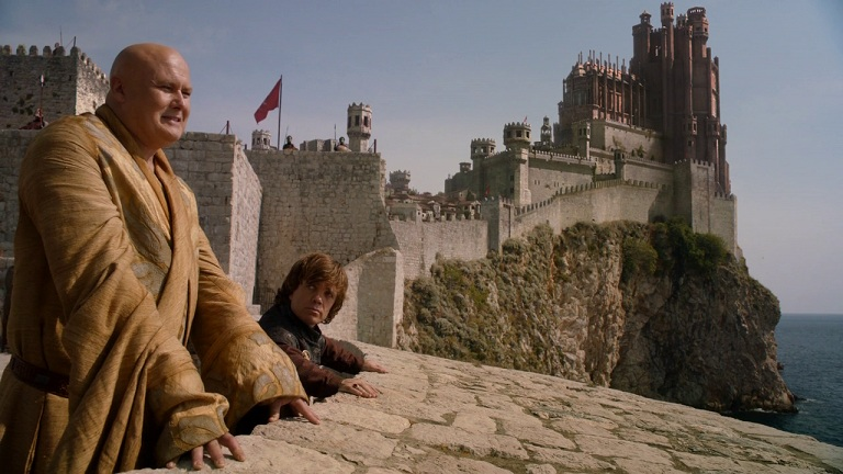 Conleth Hill as as Varys and Peter Dinklage as Tyrion