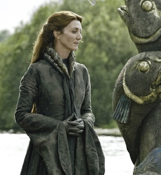 Lady Catelyn Stark at her father's funeral