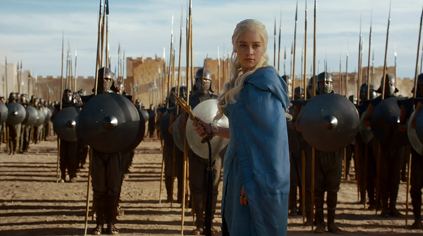 Dany declares that the soldiers are free