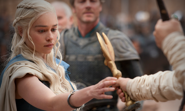 Daenerys takes the whip from Master Krasny