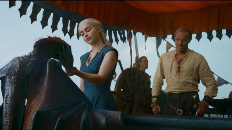 The dragons are growing fast while Daenerys sails in search of an army