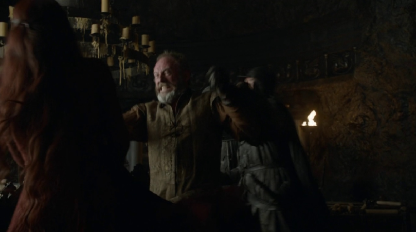 Ser Davos strikes out at Melisandre