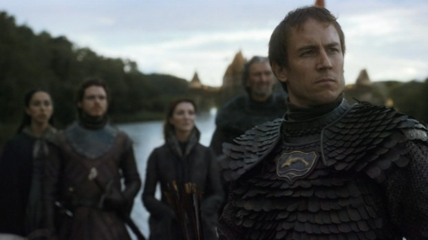 Tobias Menzies (foreground) as Edmure Tully