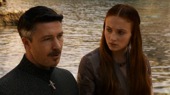 Littlefinger comes to have a private talk with Sansa