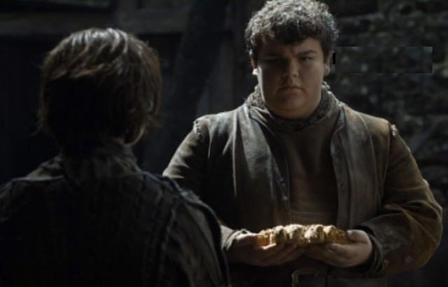 Arya and Hot Pie say goodbye