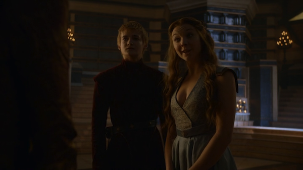Joffrey (Jack Gleeson) and Margaery (Natalie Dormer) visit The Sept