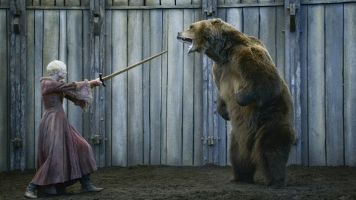 Brienne and a bear