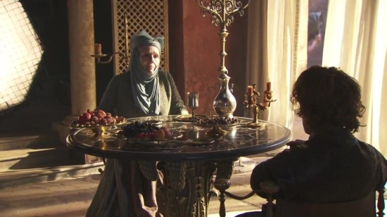 Lady Olenna meets Tyrion for the first time