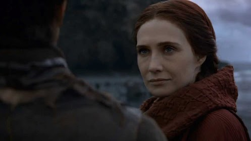 Melisandre talks to Gendry