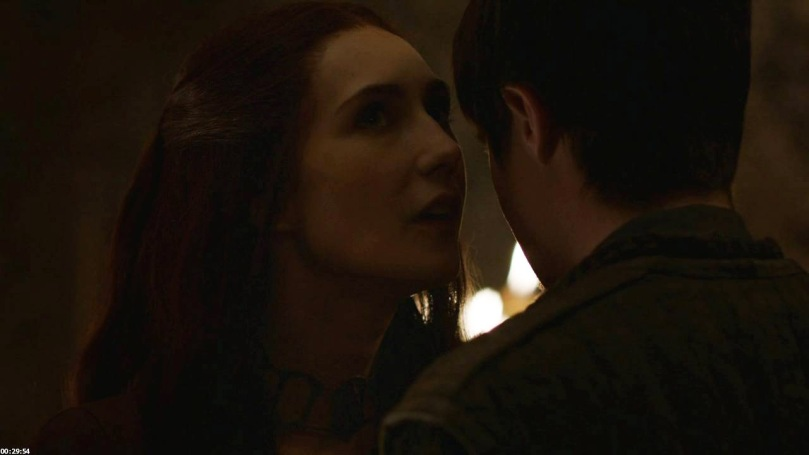 Melisandre with Gendry