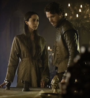 Talisa worries and Robb strategizes