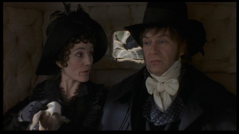 Fanny (Harriet Walter) & John Dashwood (James Fleet) in the '95 feature film
