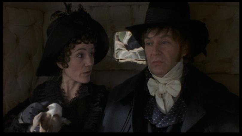 Fanny (Harriet Walter) & John Dashwood (James Fleet) in the '95 feature film