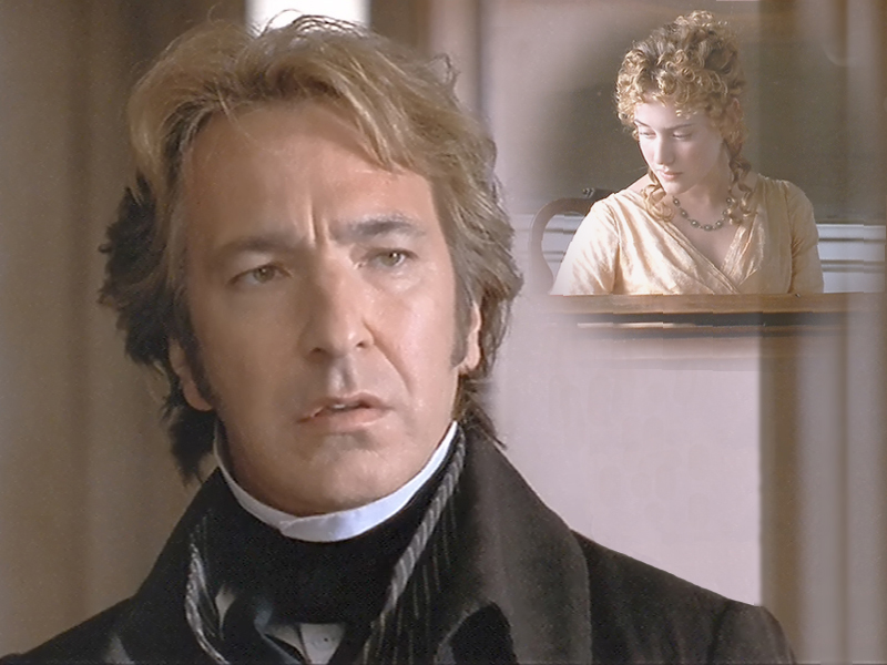 Col. Brandon (Alan Rickman) sees/hears Marianne for the first time.