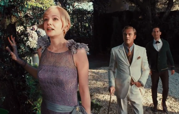 Daisy sees Gatsby's house for the first time.