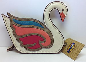 Fossil coin purse (swan)