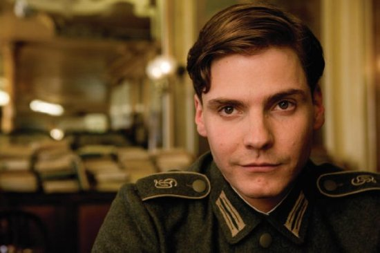 "Bruhl as a young Nazi officer (""Inglorious Basterds"")"