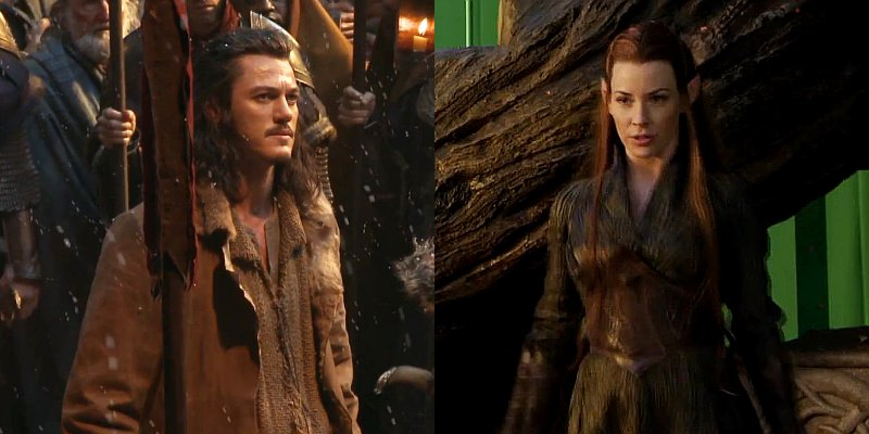 The new characters: Bard (Luke Evans) & Tauriel (Evangeline Lilly)