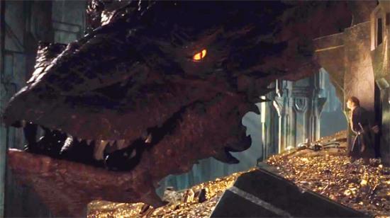 Bilbo meets Smaug (Benedict Cumberbatch)